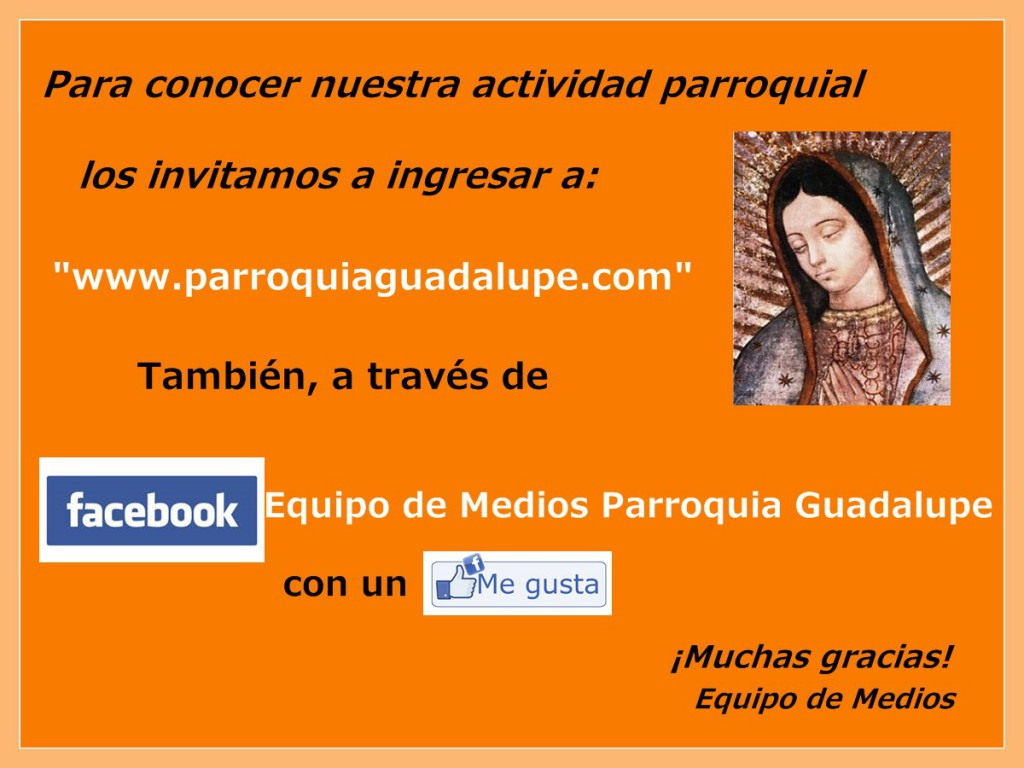 Cartel Web y Facebook